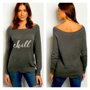 Chill Embroidered Sweater
